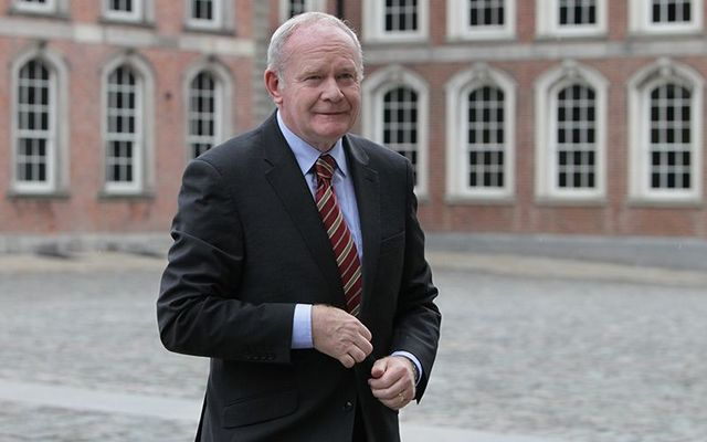 Martin McGuinness, photographed at the Dublin Castle.