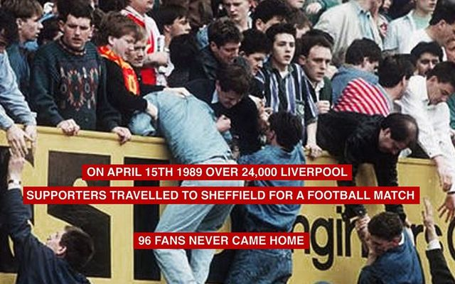 The Hillsborough disaster in 1989.