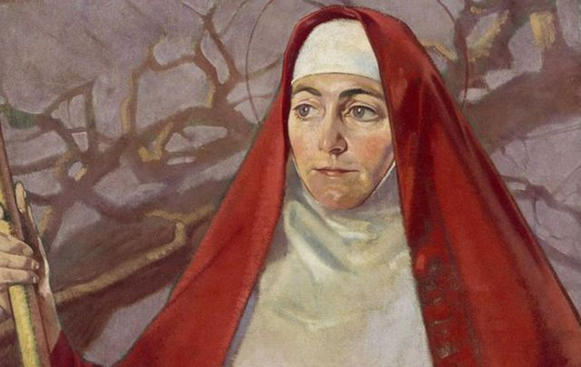 A painting of St. Brigid by Patrick Joseph Tuohy.