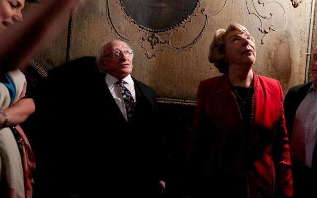 President Michael D. Higgins and Sabina Higgins at the New York Tenement Museum.