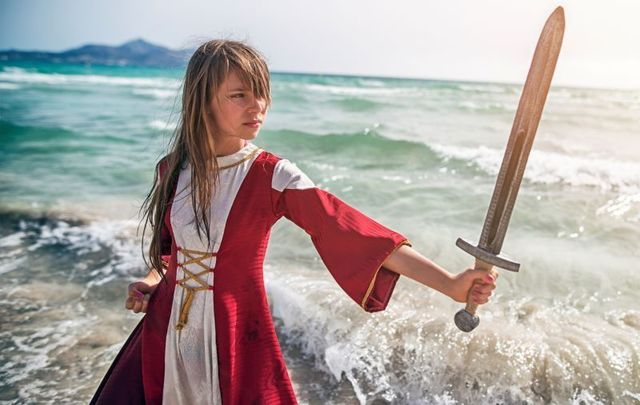 This historian\'s daughter made him proud when she opted to be \'The Red Girl\' Viking warrior for her school\'s Medieval feast.