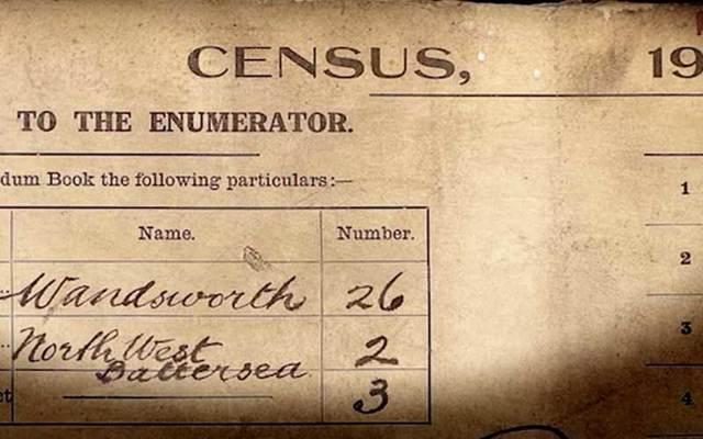 Turn of the century census document.