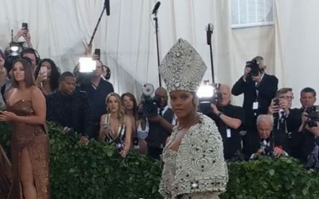 """Rihanna at the \""""Heavenly Bodies\"""" themed Met Gala."""