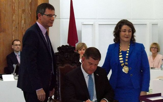 Mayor of Boston Marty Walsh in Co Galway.