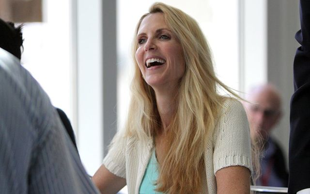 Irish American right-wing columnist Ann Coulter.