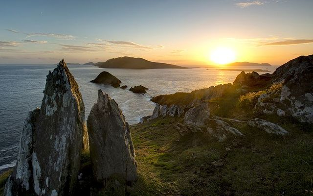 Dunmore Head and the Blasket Islands on the Wild Atlantic Way in County Kerry.