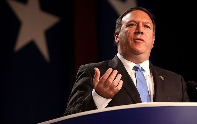 New Secretary of State Mike Pompeo.