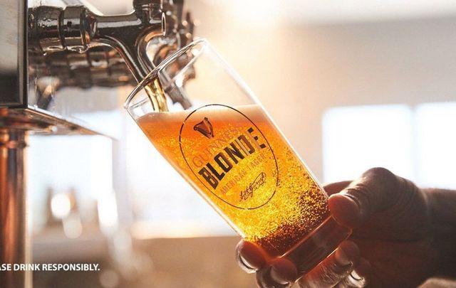 Guinness Blonde American Lager.