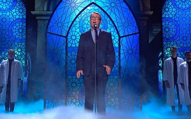 Fr. Ray Kelly performs on Britain\'s Got Talent
