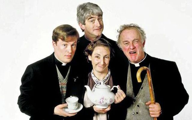 The cast of \'Father Ted.\'