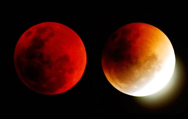 Lunar eclipse was welcomed by Celts in ancient times. A total lunar eclipse is also called a blood moon for its red glow.