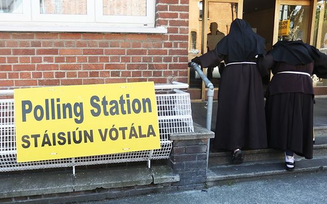 Nuns at a polling station in Ireland