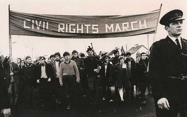 A peaceful process by the Northern Ireland Civil Rights Association (NICRA).