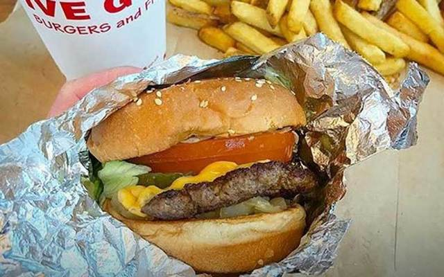 Five Guys burger and fries.