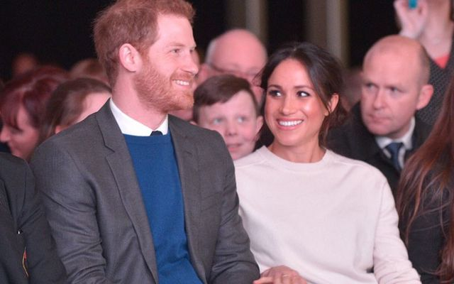 Prince Harry and Meghan Markle during their trip to Northern Ireland in early 2018.