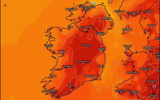 HOT! Irish temperature next week are going to break records.
