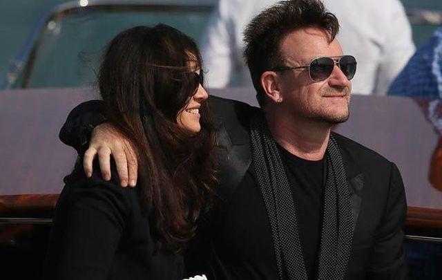 Bono and Ali Hewson photographed in Venice.