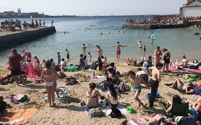 Cooling off at Sandycove, in south Dublin.