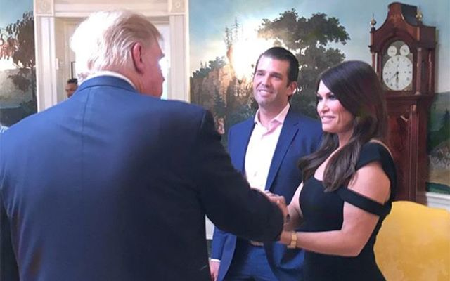 Kimberly Guilfoyle meeting with President Trump.