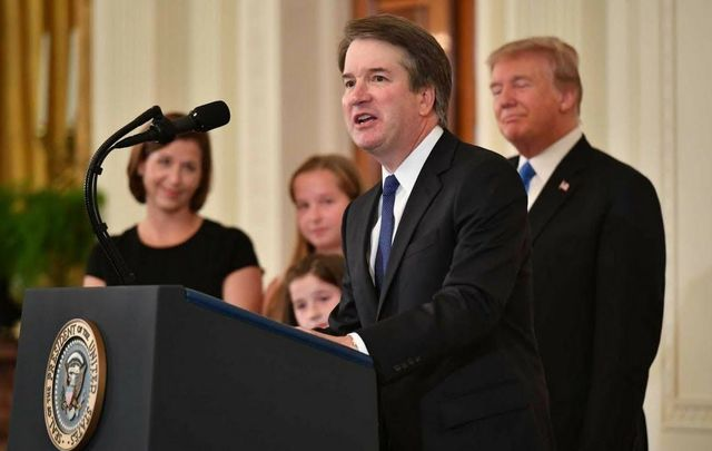 Newly appointed Supreme Court Judge Brett Kavanaugh.