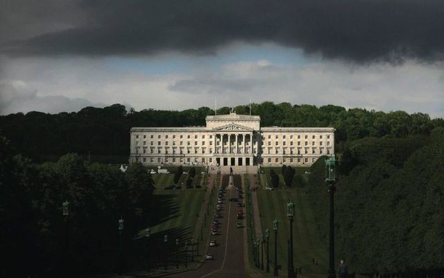Clouds over Stormont.