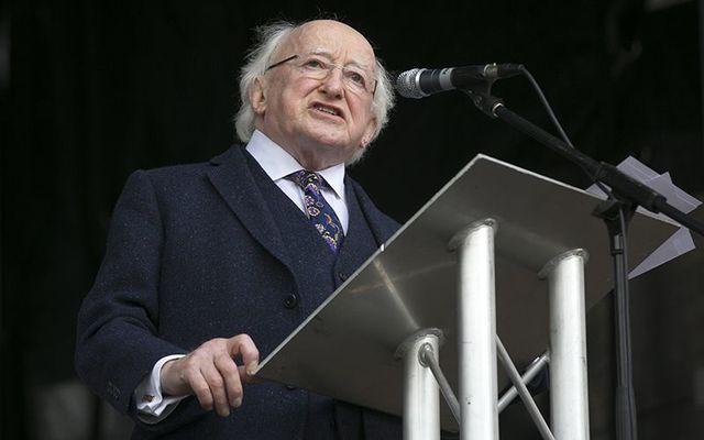 Irish president Michael D. Higgins.