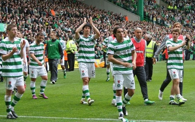 Players of Celtic F.C. on the final day of the 2010/11 season