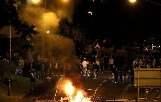 Petrols were thrown and violence broke out in Derry, earlier this month during the July 12 celebrations.
