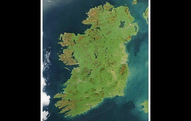 The entire island of Ireland.