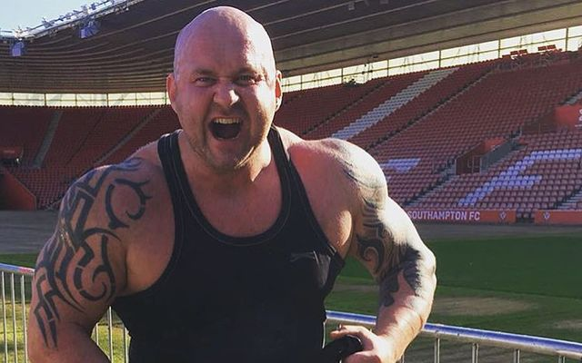Ireland and the UK\'s Strongest Man Pa O\'Dwyer.