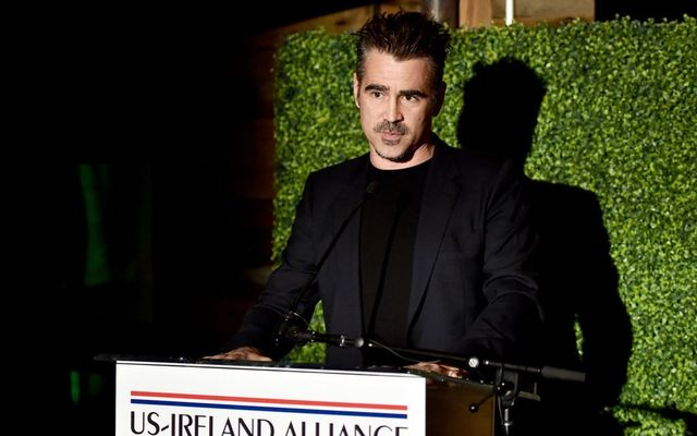 Colin Farrell speaks onstage during the Oscar Wilde Awards 2018 at Bad Robot on March 1, 2018, in Santa Monica, California.