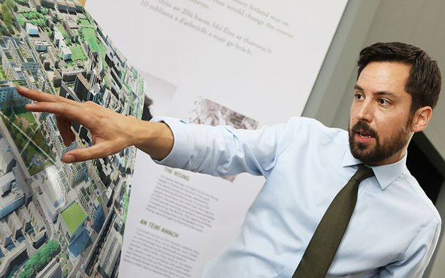 Housing Minister Eoghan Murphy at last week's launch of a new housing development in Inchicore, Co. Dublin.