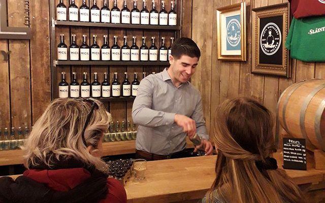 Padraic leads a tour of Micil Distillery.