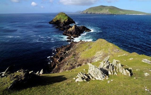 an Blascaod Mór (the Great Blasket Island) off the coast of Co Kerry.