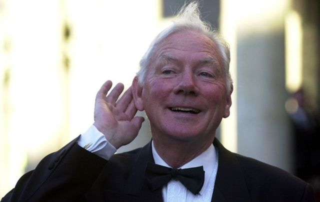 Veteran Irish broadcaster Gay Byrne.