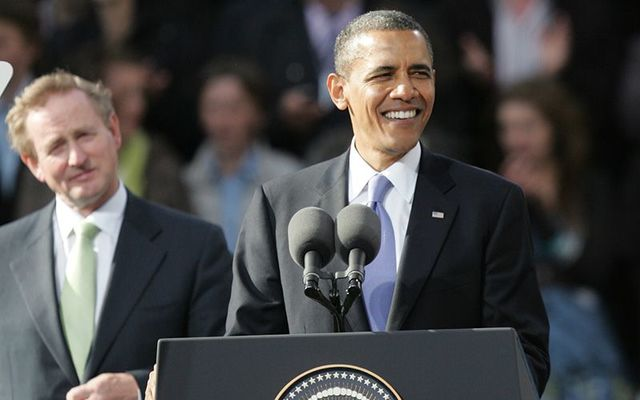 Former President Barack Obama photographed in Ireland in 2011.
