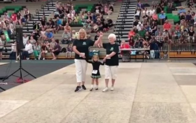 No excuses! Get those Irish dancing shoes on! Three generations of Irish dancers competed together recently at a feis performing a three-hand reel.