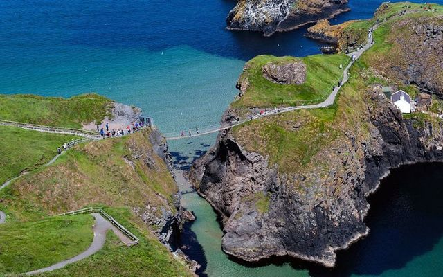 Carrick-A-Rede rope bridge in Northern Ireland is the perfect destination for adrenaline junkies