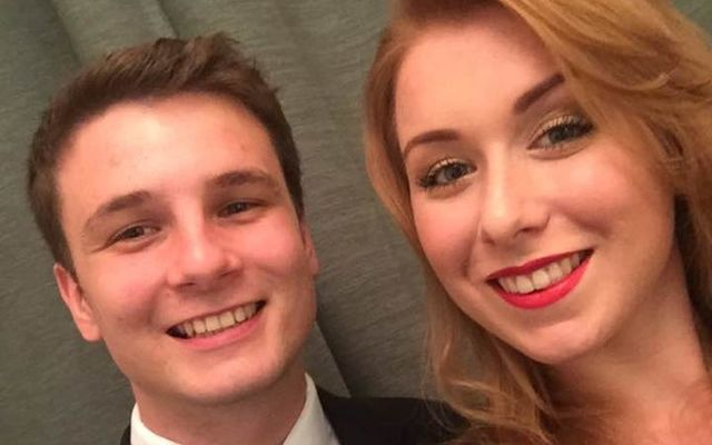 Aisling Brady with her boyfriend Kristian Mansfield