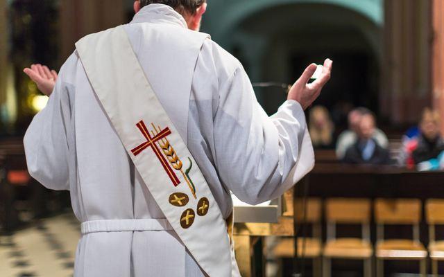 Priest saying Mass.