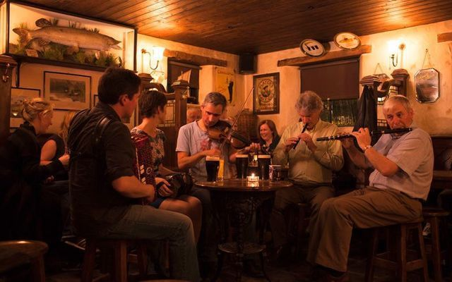 A pub session in Donegal.