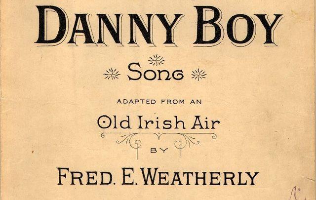 Sheet music to Danny Boy.