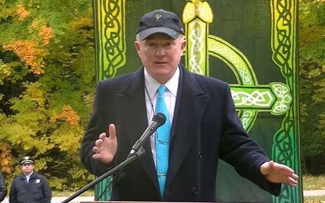 Ohio businessman Ed Crawford, who has emerged as the front-runner to become the next US ambassador to Ireland, at the opening of an Irish Cultural Garden in Cleveland.