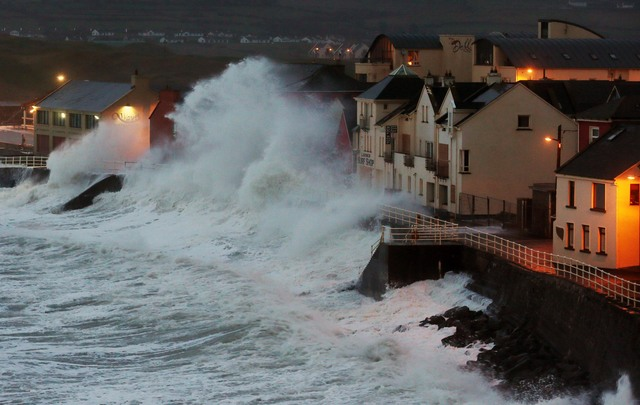 Lahinch, County Clare during a storm in 2014.