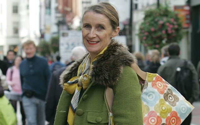 Irish designer Orla Kiely photographed on Grafton Street, in Dublin.