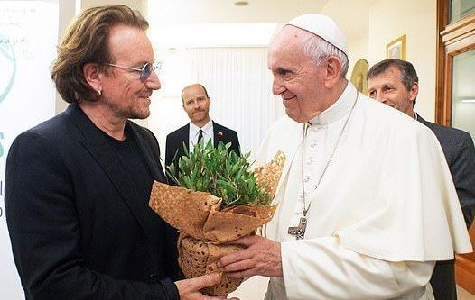 Bono met with The Pope on Wednesday