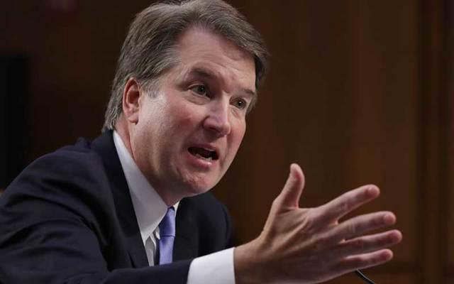 Supreme Court nominee Judge Brett Kavanaugh before the Senate Judiciary Committee.