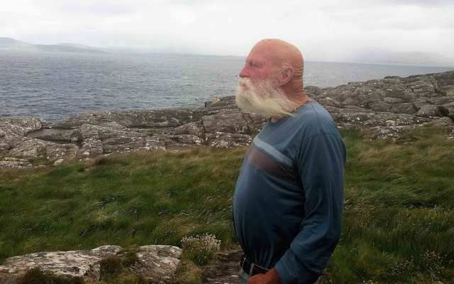 Dan Hummel looking out across Bantry Bay to Bere Island.