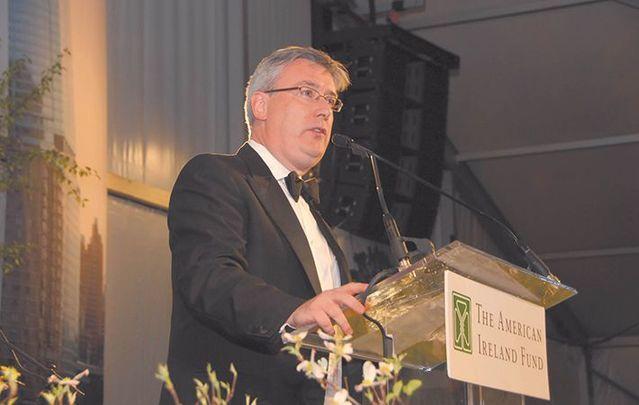 Kieran McLoughlin, speaking at an American Ireland Fund Gala.