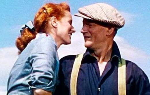 John Wayne and Maureen O\'Hara famously starred together in the beloved film \'The Quiet Man\'